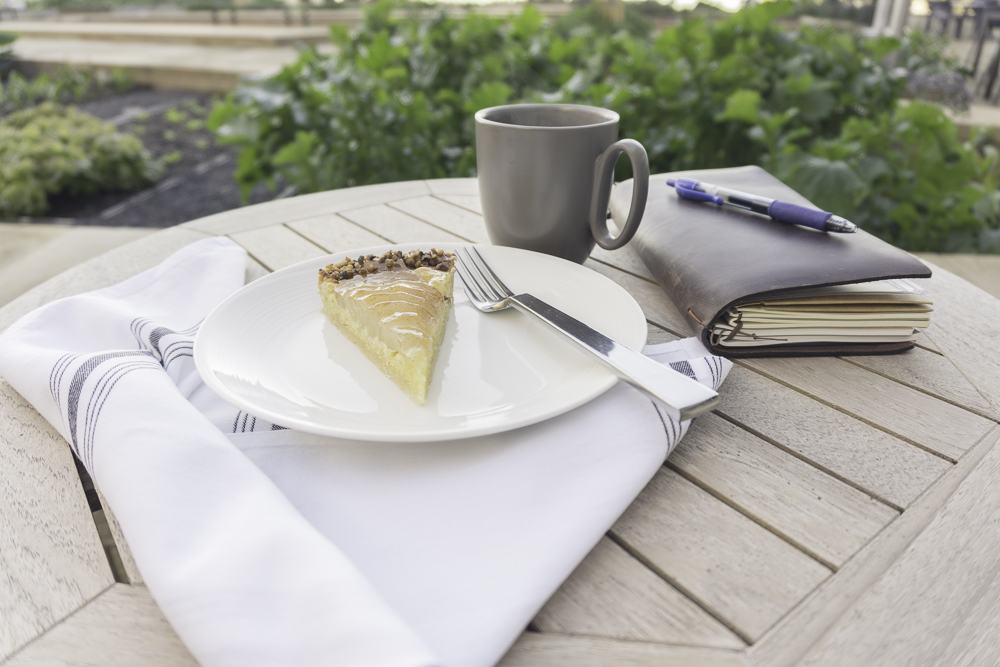 pear pie and break time